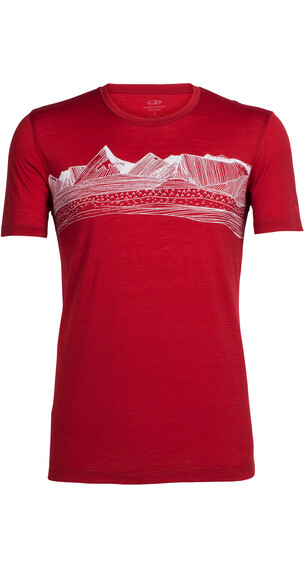 Icebreaker Tech Lite t-shirt Heren rood